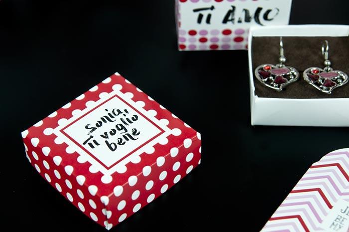 scatole orecchini personalizzate
