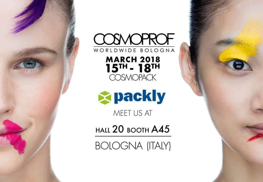 Packly at Cosmopack 2018 packaging fairs