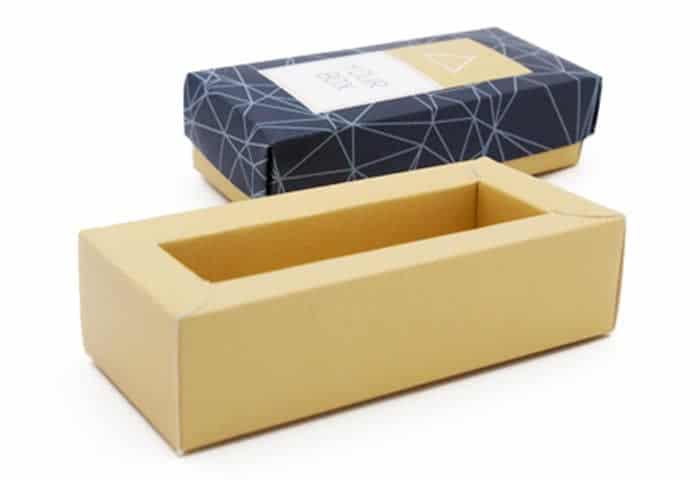 scatola con fondo doppia parete coperchio