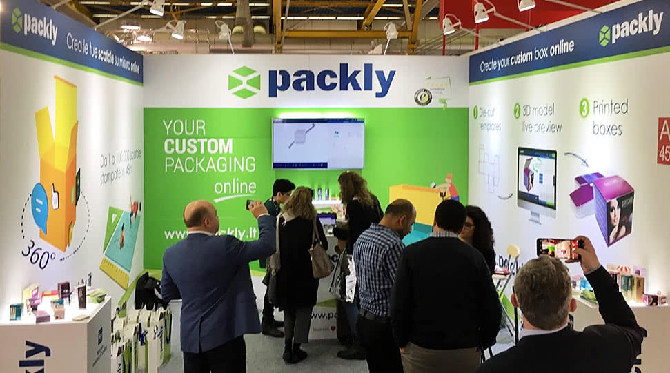 packly anteprima stand cosmopack 2018