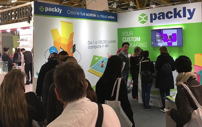 packly booth cosmopack 2018