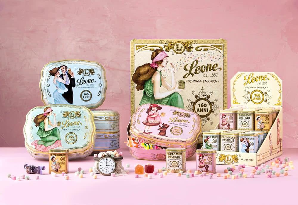 set packaging confezioni di pastiglie leone