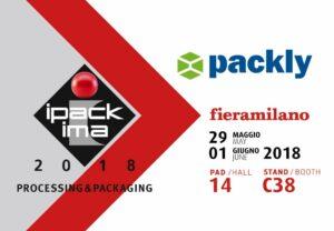 Non perdere il prossimo appuntamento con Packly a Ipack-Ima 2018!