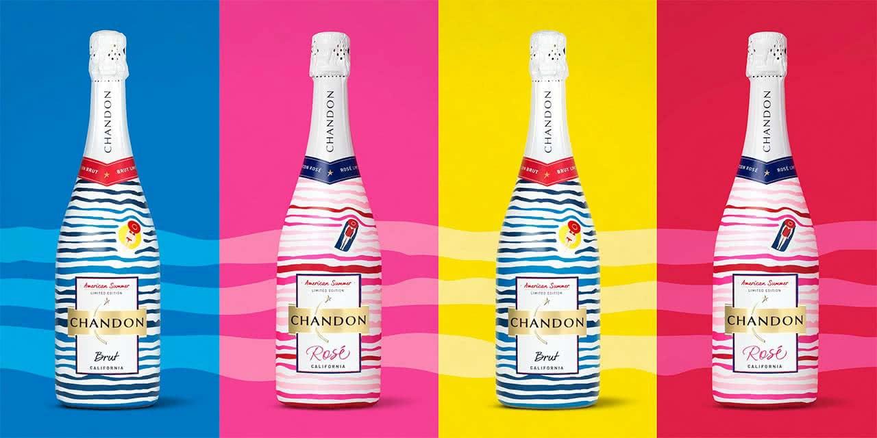 chandon bottles packaging designs for summer
