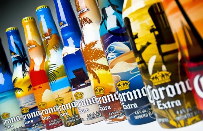 corona extra packaging bottles summer look