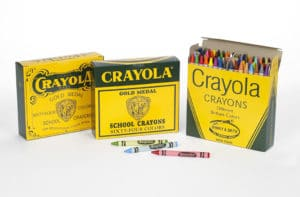 Packaging and branding: Crayola crayon boxes