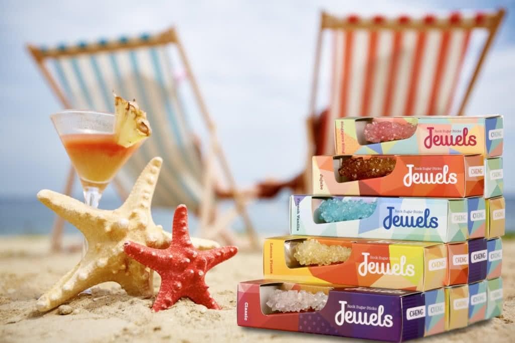 packaging per bastoncini di zucchero jewels