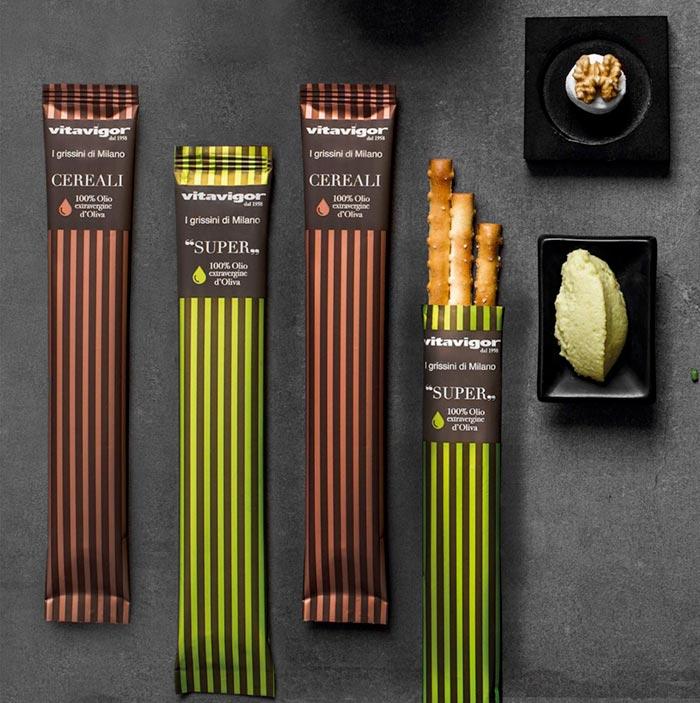grissini-vitavigor-striped packaging design