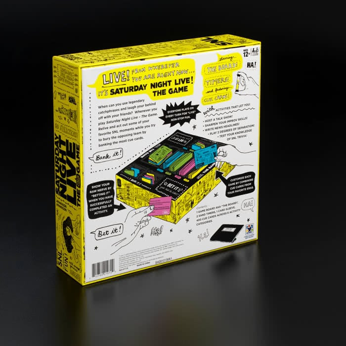 snl table game packaging design