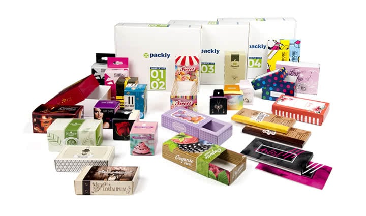 Packly printed boxes complete kit