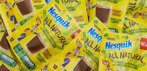 Nesquik All Natural plastic-free packagings: the end of the yellow box era.