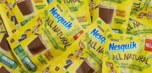 Arrivano i nuovi packaging Nesquik All Natural. Addio scatola gialla!