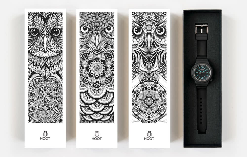 creative wristwatch boxes packaging design