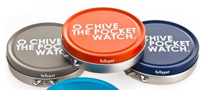pocket watch custom tin box