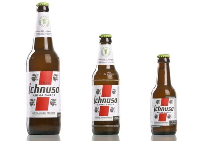 Ichnusa disposable bottles green packaging