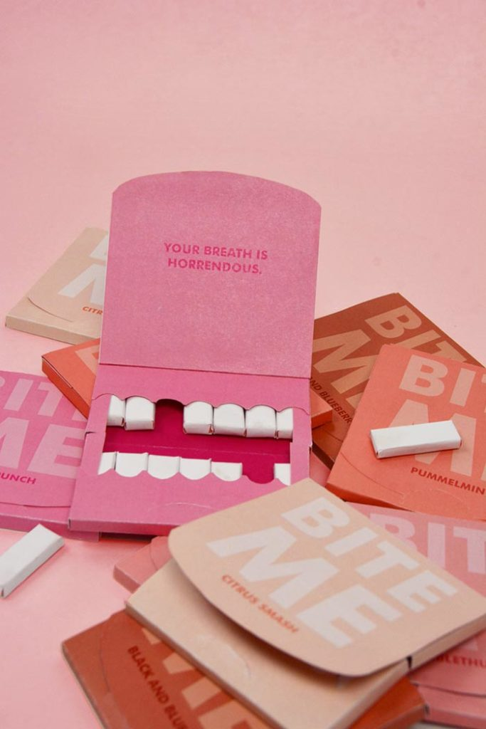 creative box design chewing-gum