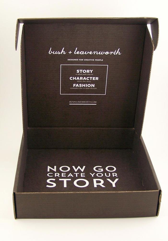 motivational custom rollover hinged lid box