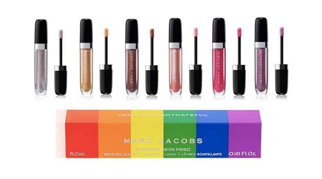 Rainbow lip gloss box for the Pride