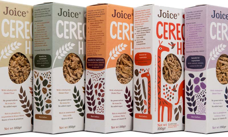 Scatole di superfood: cereali bio