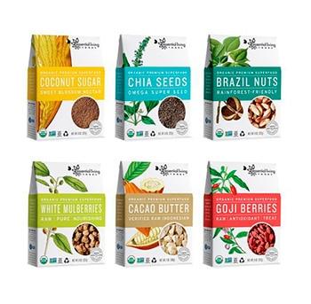 Packaging  in cartone di superfood: bacche e noci