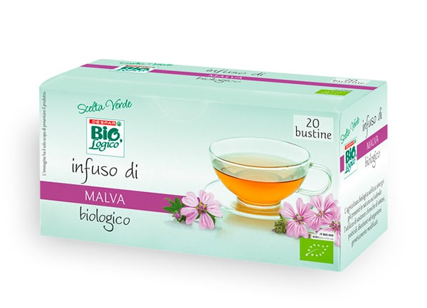 Packaging infuso di malva bio