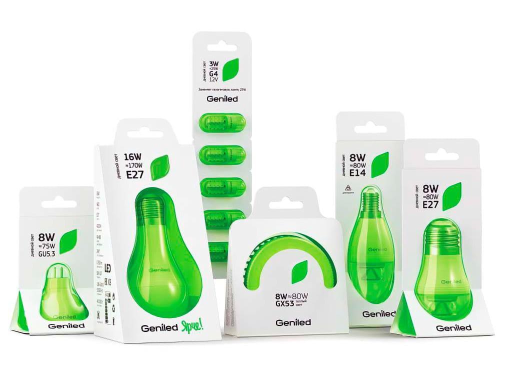 Packaging per lampadine smart Geniled