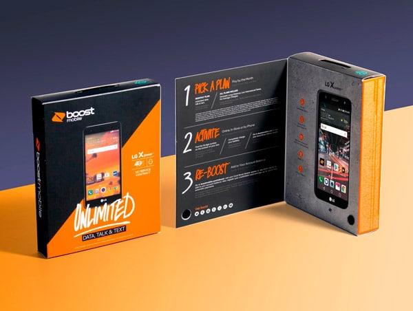Packaging per telefono usa e getta Boost Mobile