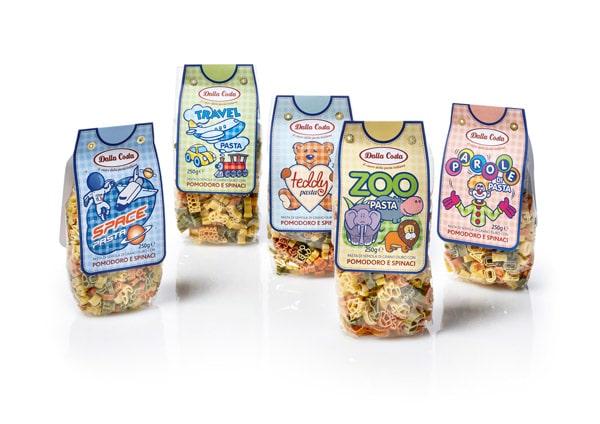 Pasta boxes for children by Dalla Costa