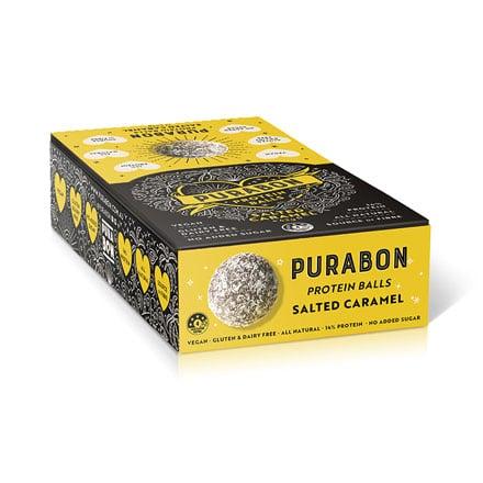 Cardboard box for vegan caramel pastries