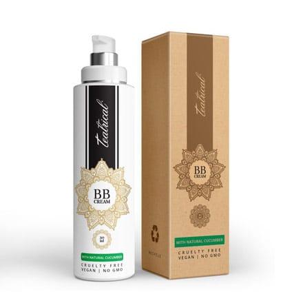 Cardboard box for vegan BB cream