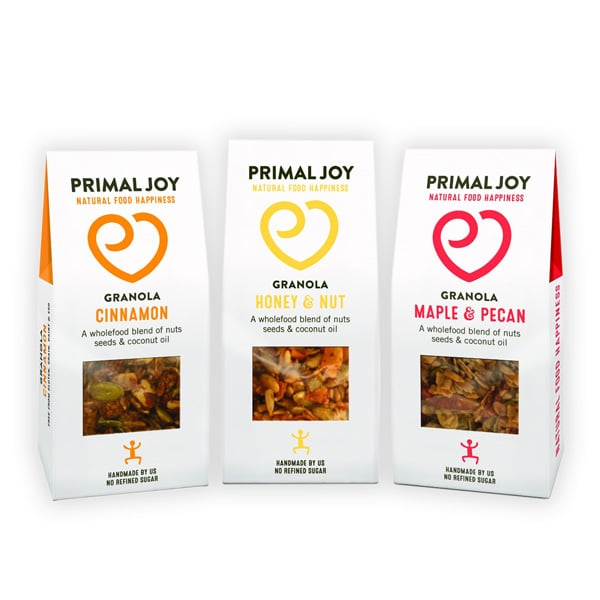 Protein granola packs with window