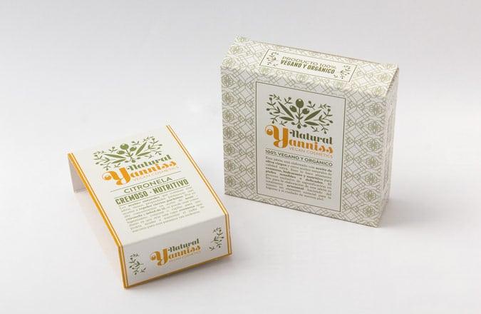 Sleeve or cardboard box for vegan soap