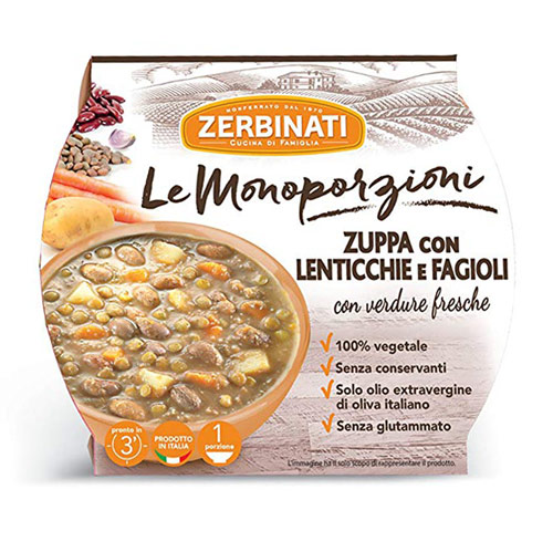 Zuppa in imballo monouso
