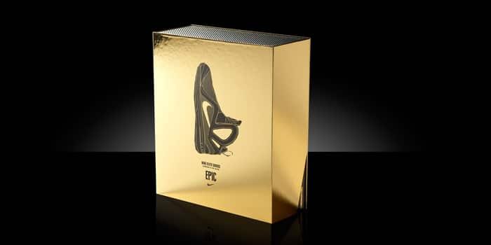 Golden shoe box by Nike