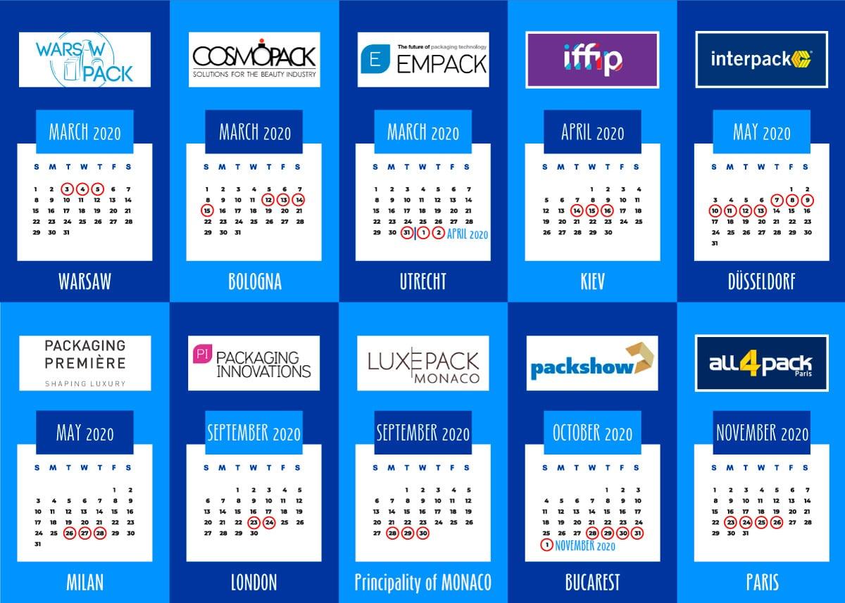 Leading-packaging fairs in Europe 2020