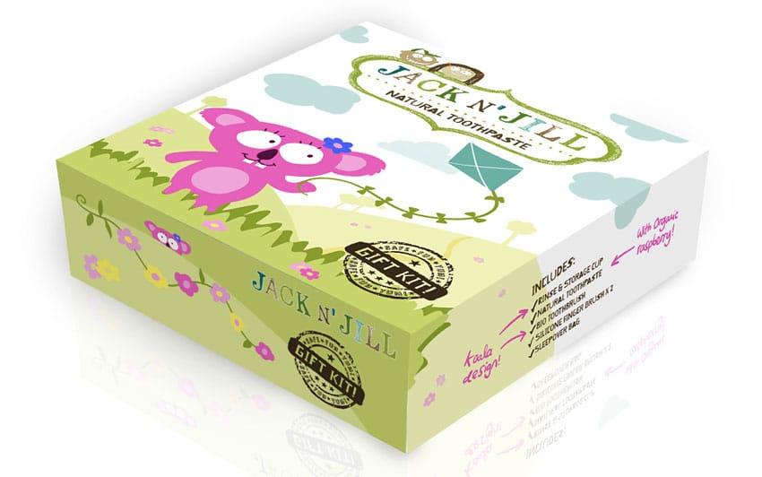 Gift box with koala-themed packaging design