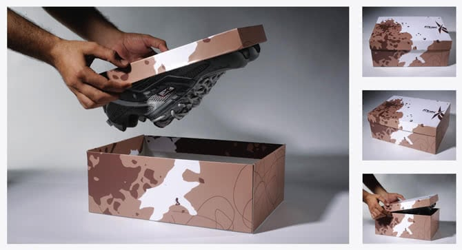 Creative shoe packaging by Reebok