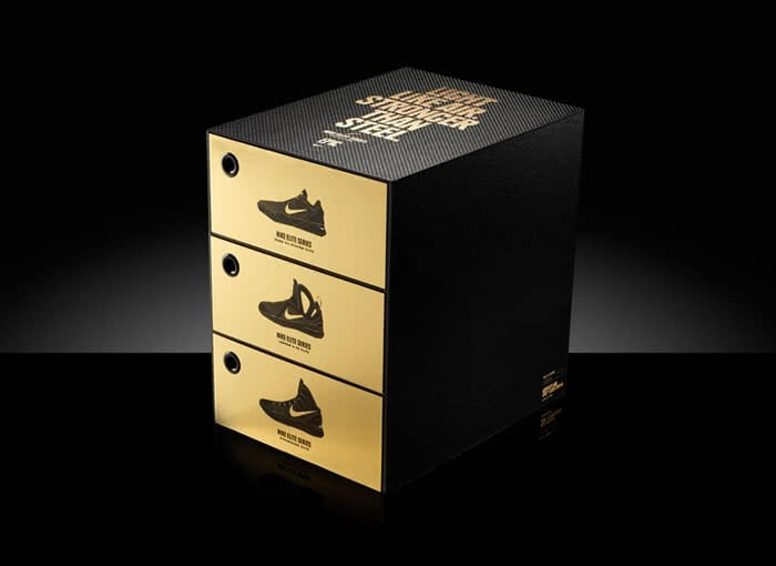 A stack of Nike shoe boxes