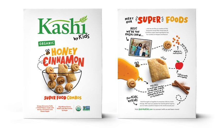 Packaging design for children and superfoods