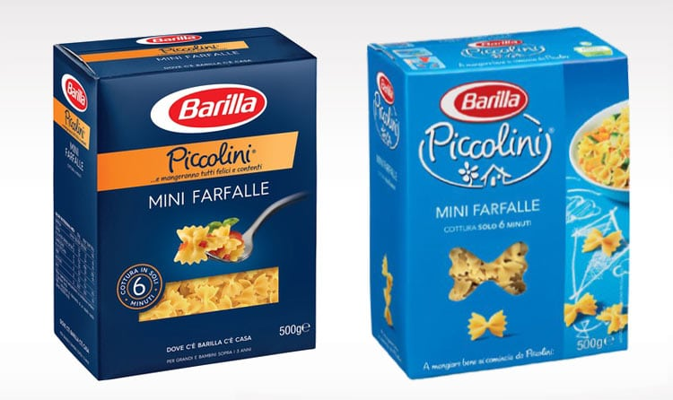 Barilla Piccolini Pasta Before and After