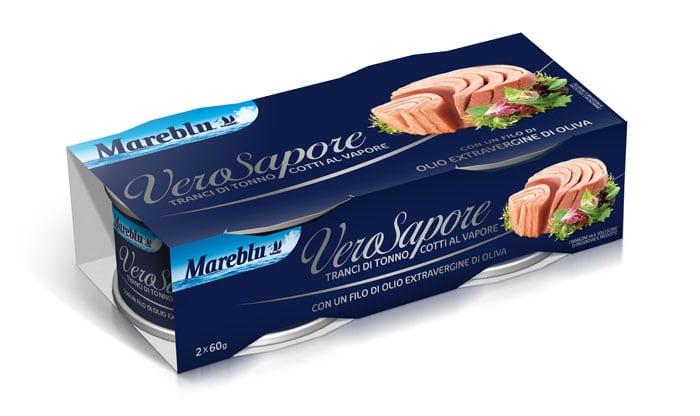 Fascetta in cartoncino blu per tonno