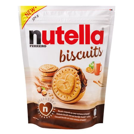 Classic Nutella Biscuits bag at launch