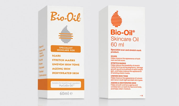 Simplification for the Bio Oil packaging