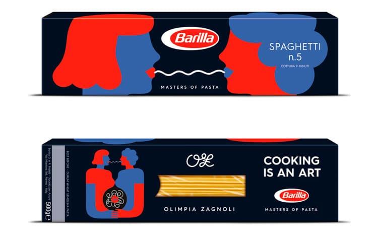 Packaging in edizione limitata Barilla di Olimpia Zagnoli