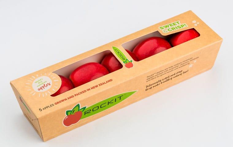 Mele confezionate in scatola di cartoncino ecologica