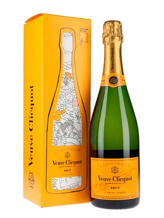 Packaging giallo speciale per champagne