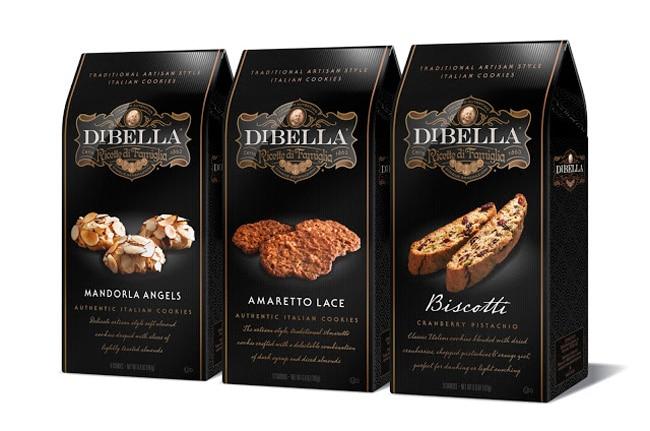 Black packaging for Italian cookies
