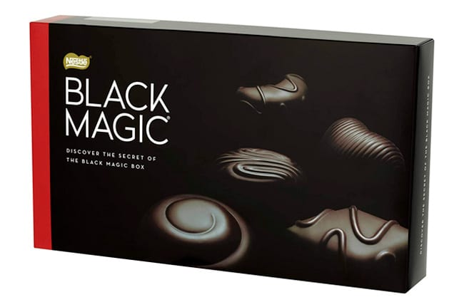 Black box for dark chocolates