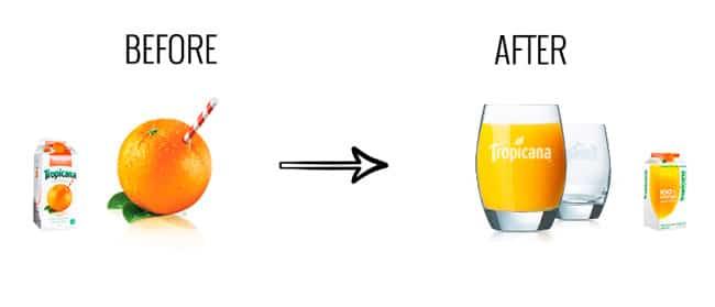 Elemento grafico prima e dopo