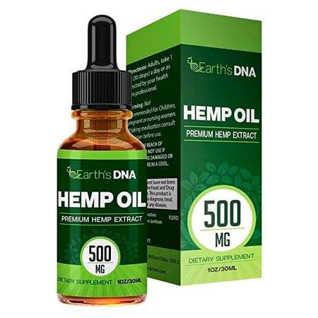 Green hemp oil packaging